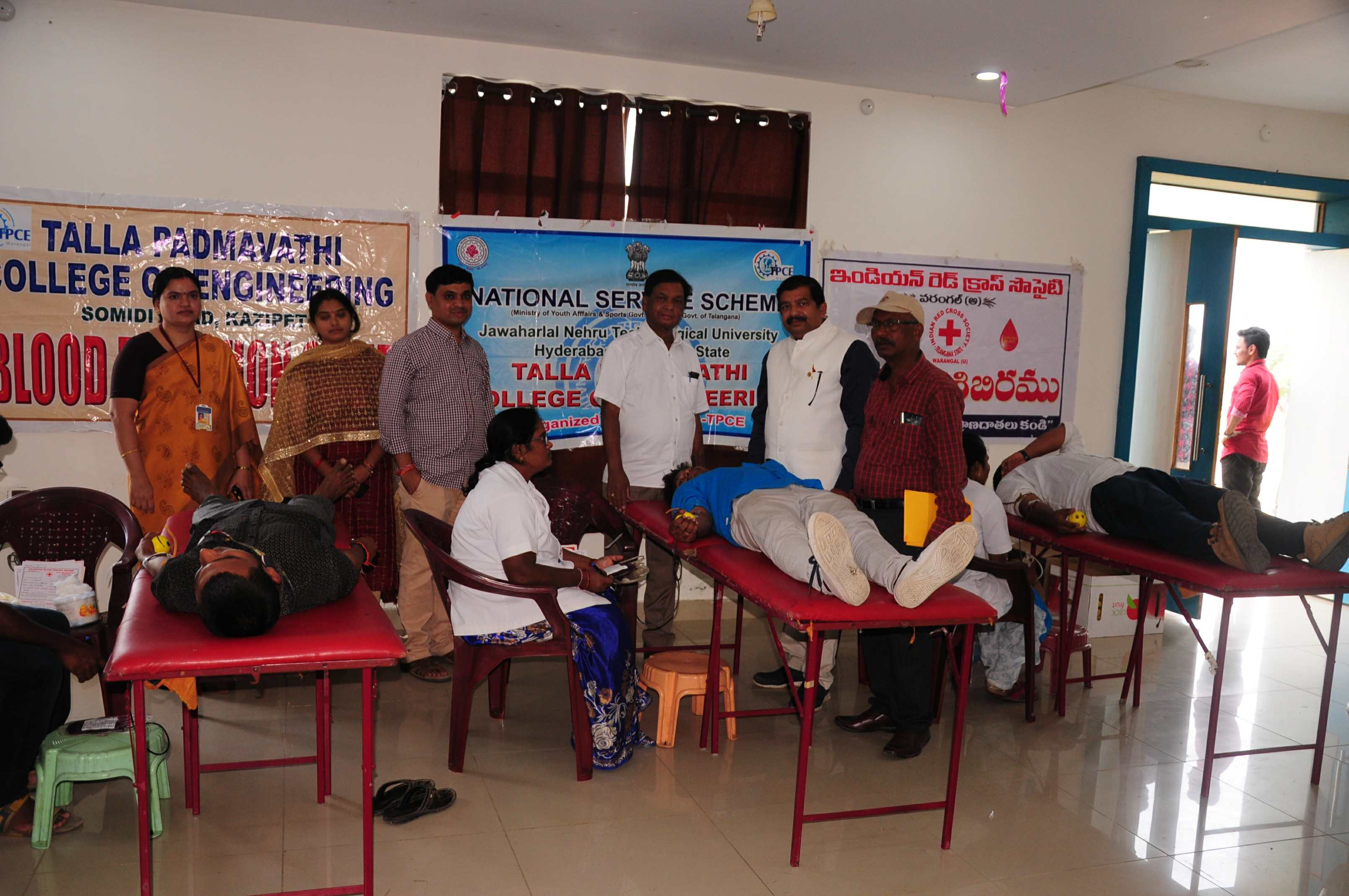 Blood donation camp by NSS Unit